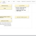 Auswahl möglicher Berichte, wie z.B. Betriebsanweisung