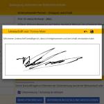 Unterschreiben in UTA (Unterweisungs Plattform)