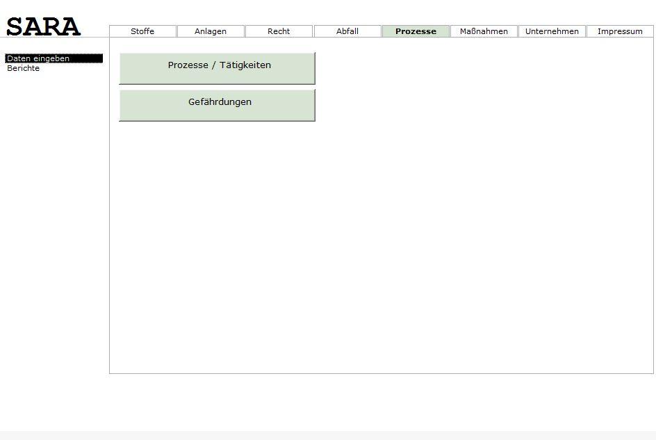 Startseite Prozesse (Gefährdungsbeurteilung)