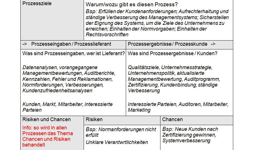 Prozess-beschreibung Auszug Delta-Paket ISO 9001:2015 und ISO 14001:2015